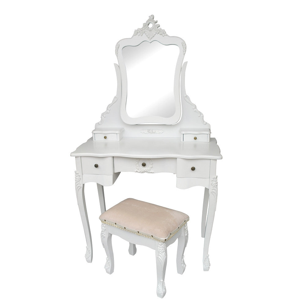 French white dressing table mirror and stool set the for French white dressing table