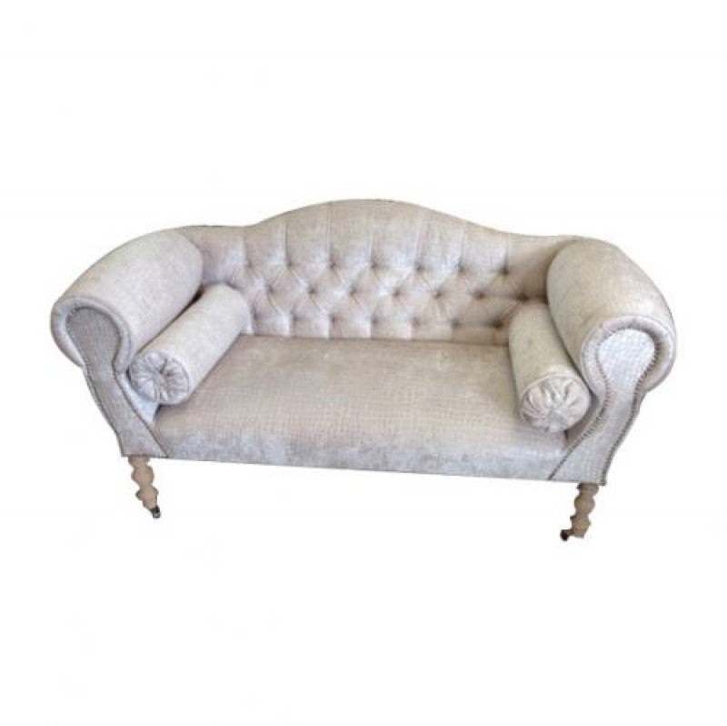 Moc croc cream 2 seater chaise sofa the yorkshire for 2 seater with chaise