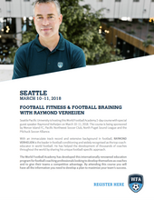 Football Fitness & Football Braining with Raymond Verheijen, Seattle March 10-11, 2018