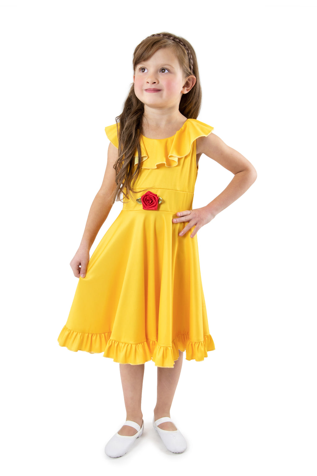 Yellow Beauty Twirl Dress