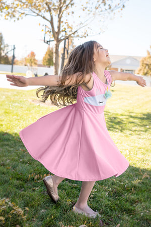 Unicorn Twirl Dress Pink