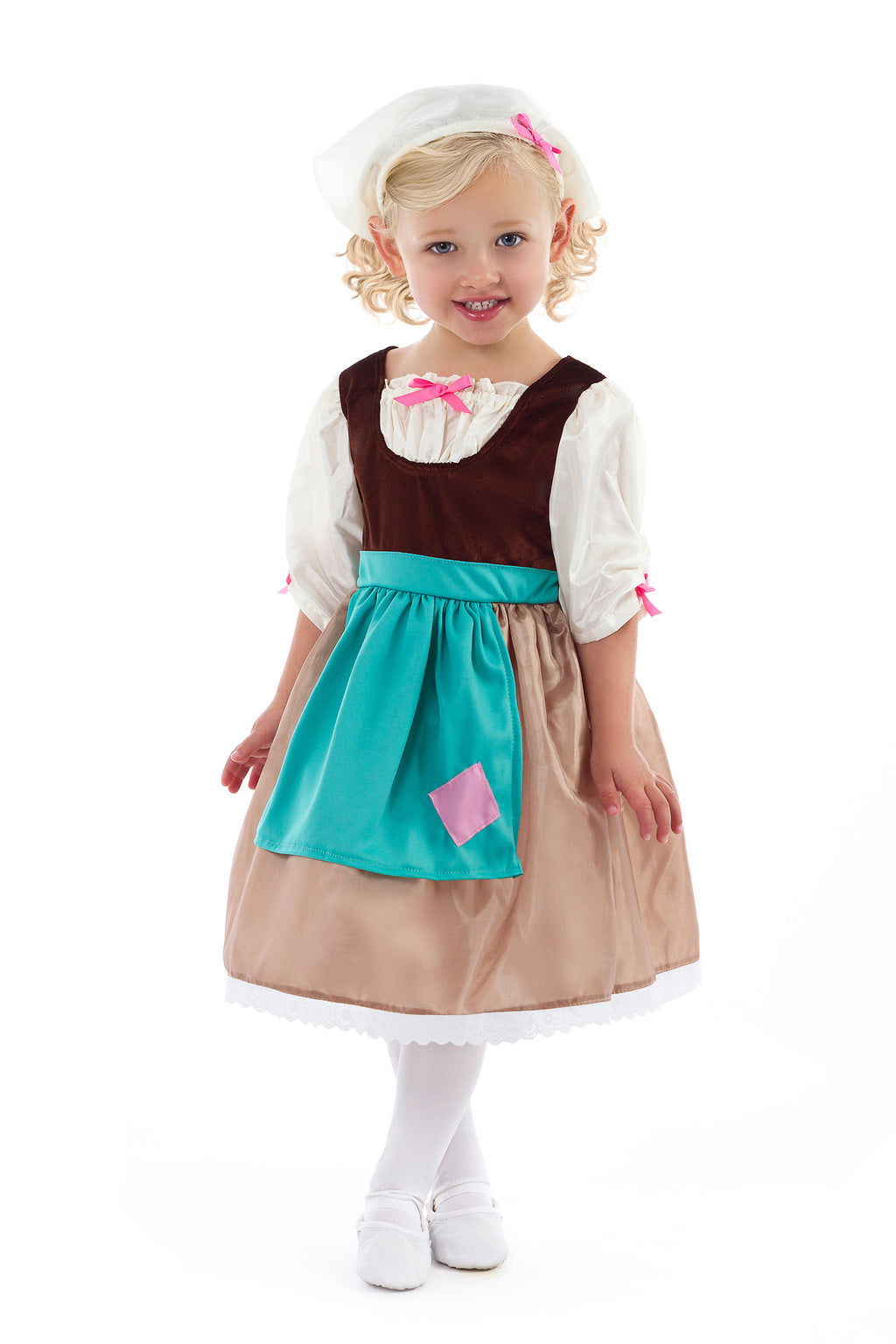 Cinderella Day Dress with Scarf (Larger Sizes Available)