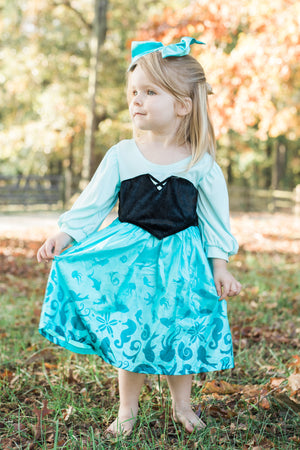 Mermaid Day Dress with Bow