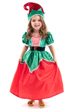 Holiday Elf Dress with Hat