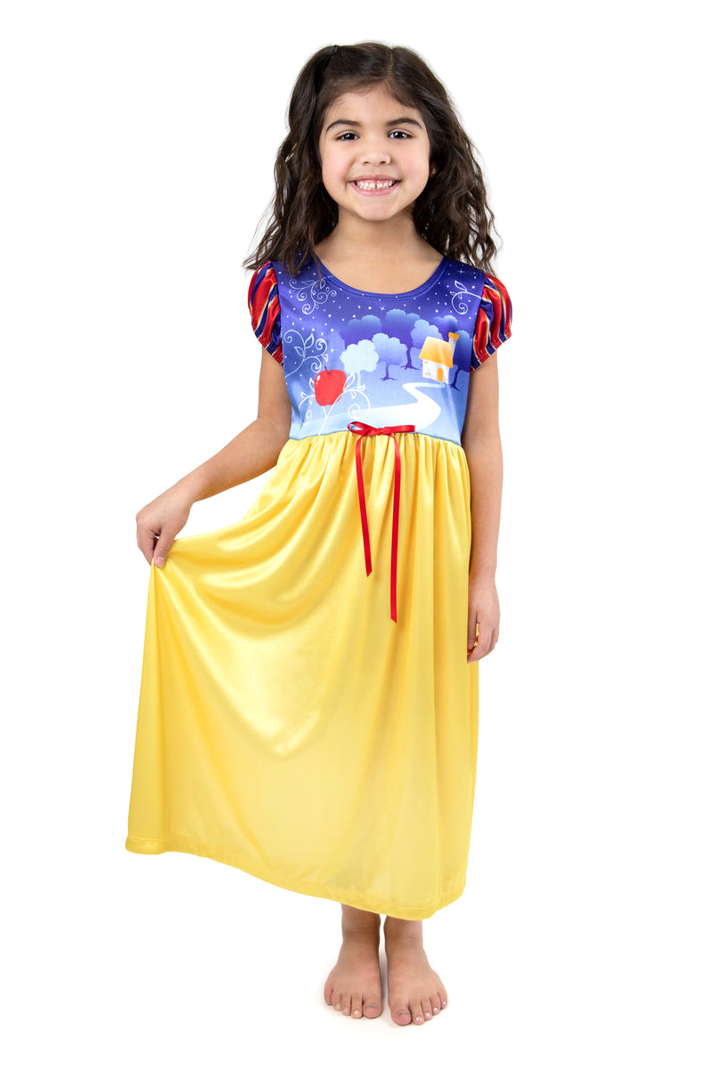 Snow White Nightgown with Red Robe