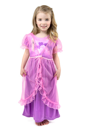 Rapunzel Nightgown with Pink Robe