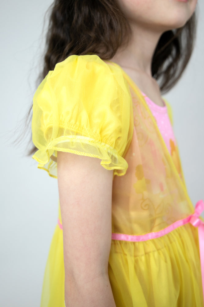 Yellow Beauty Nightgown with Yellow Robe