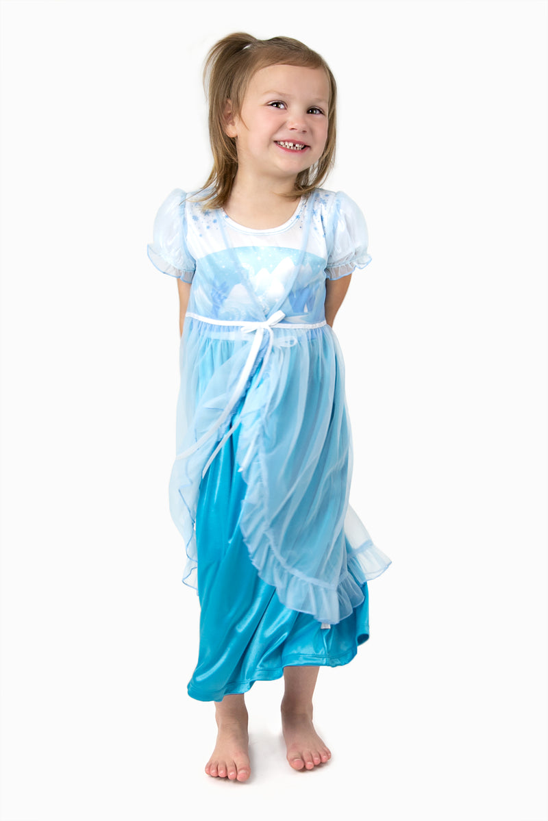 Ice Princess Nightgown with Blue Robe