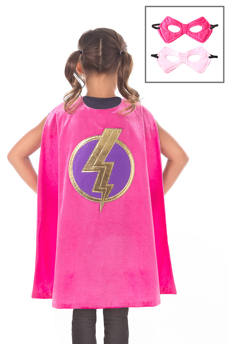 Pink Hero Cape & Mask Set