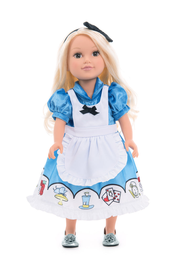 Load image into Gallery viewer, Doll Dress Alice with Headband