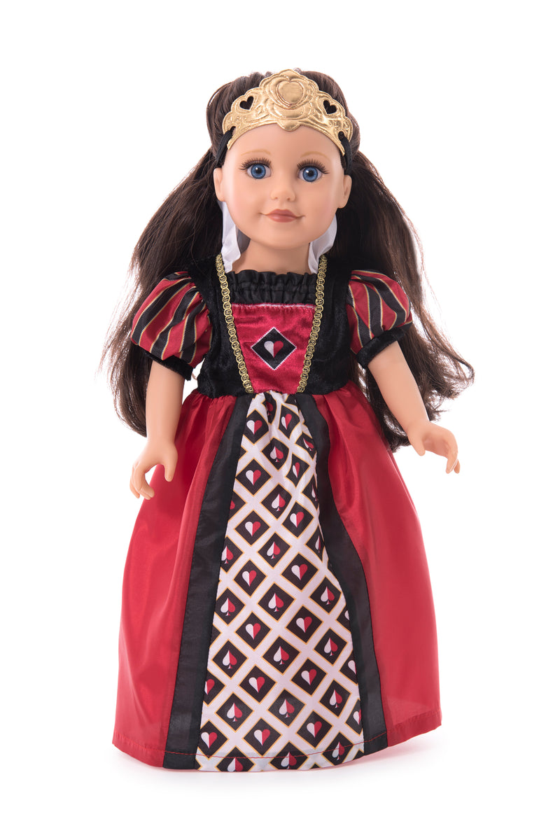 Doll Dress Queen of Hearts with Soft Crown