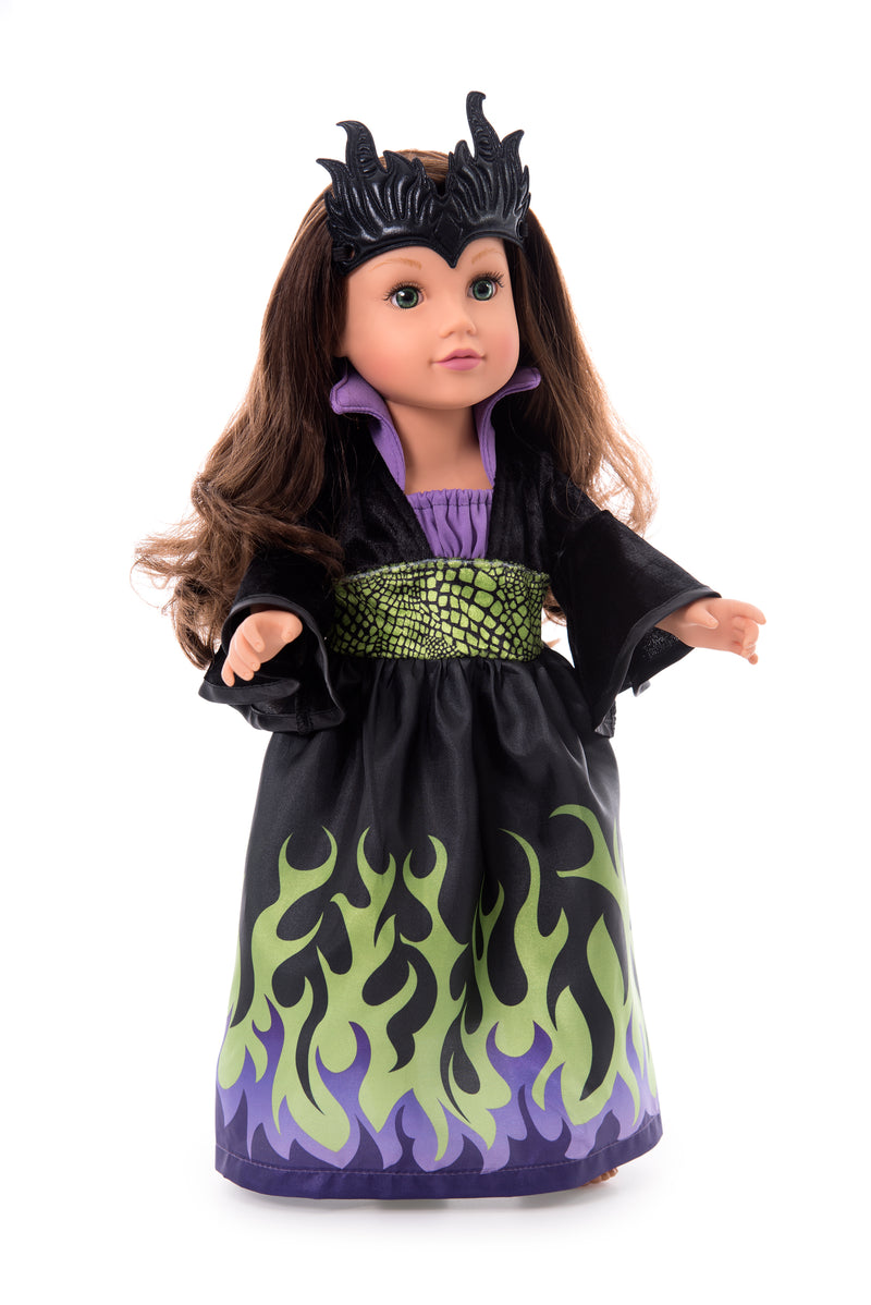Doll Dress Dragon Queen with Soft Crown