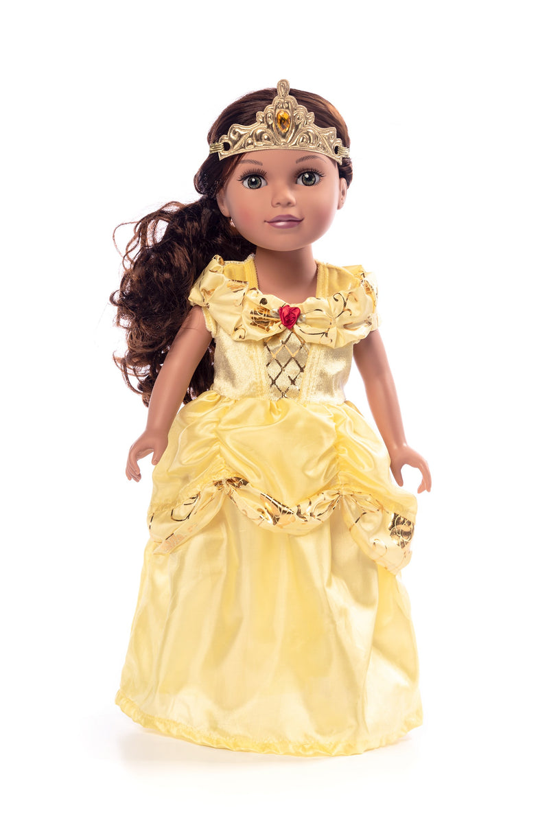 Doll Dress Classic Yellow Beauty