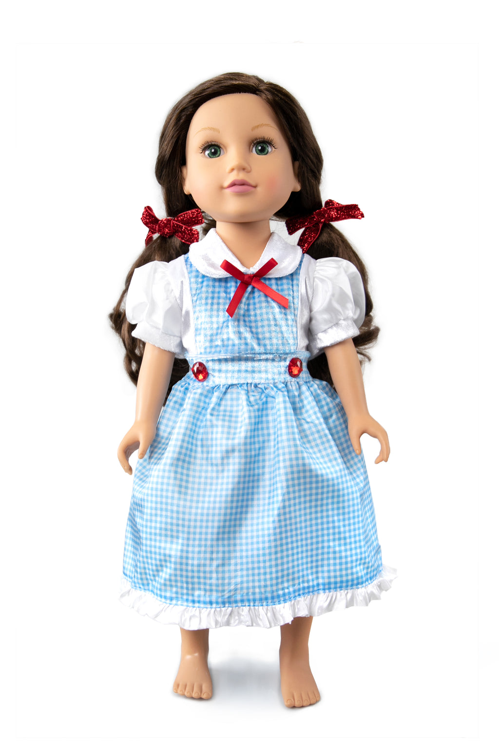 Doll Dress Kansas Girl with Bows