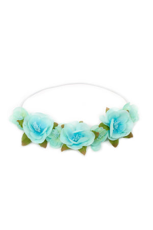 Teal Flower Headband