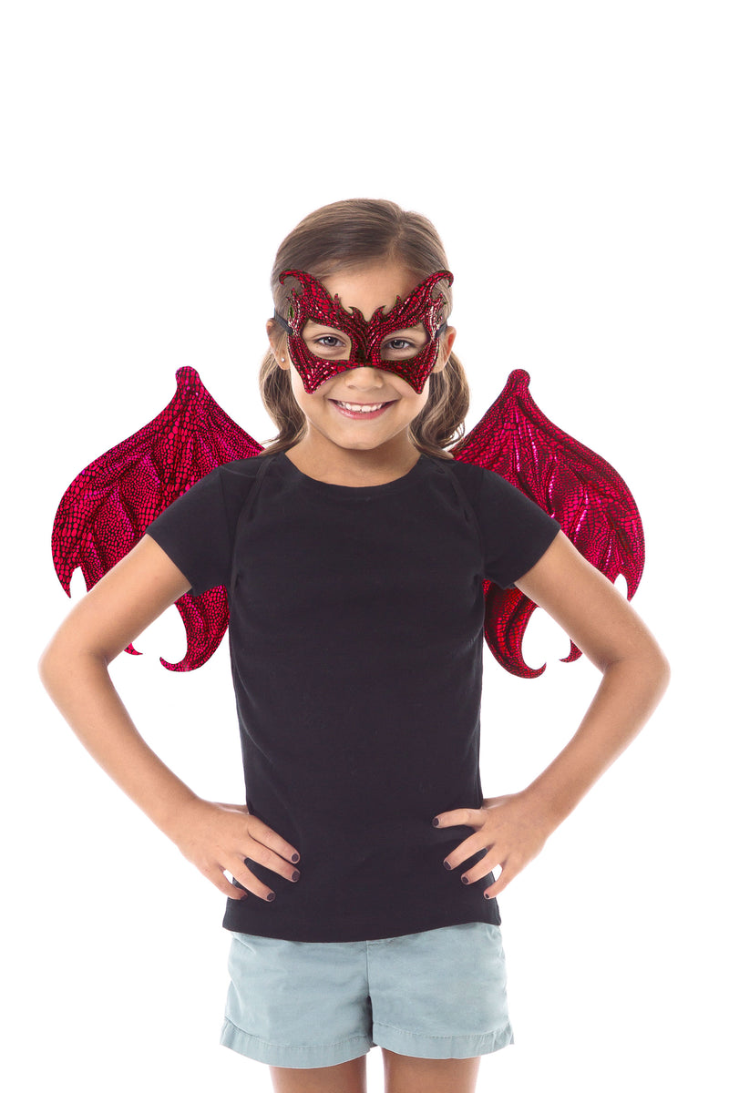 Red Dragon Wing & Mask Set