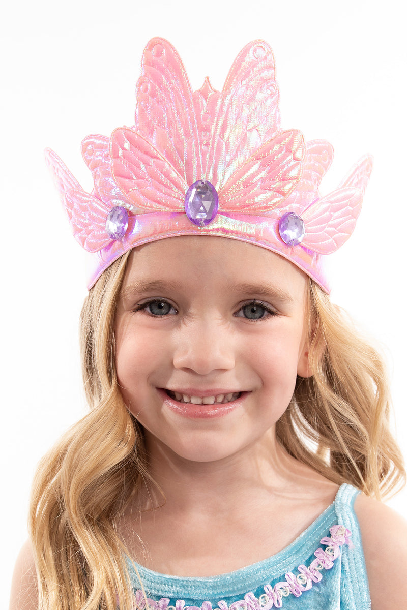 Pink Butterfly Soft Crown