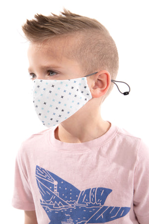 Blue Plus Sign Fashion Mask