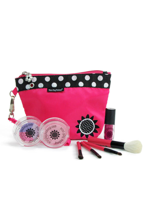 Mini Play Makeup Pink Clutch Kit - Posie Pink Lip Gloss