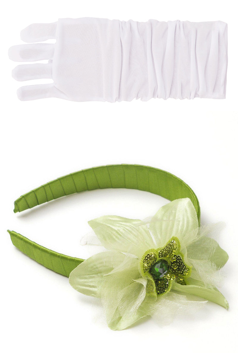 Lily Pad Headband & White Gloves Set