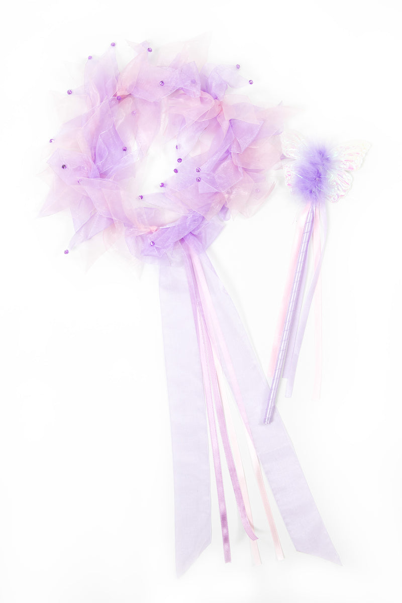 Light Pink/Lilac Fairy Halo & Wand