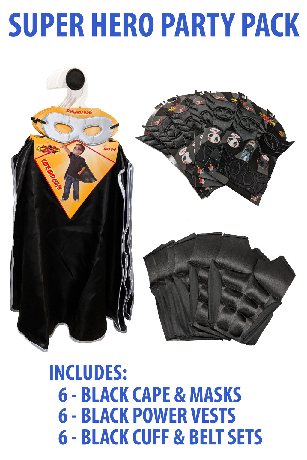 Super Hero Party Pack - Black