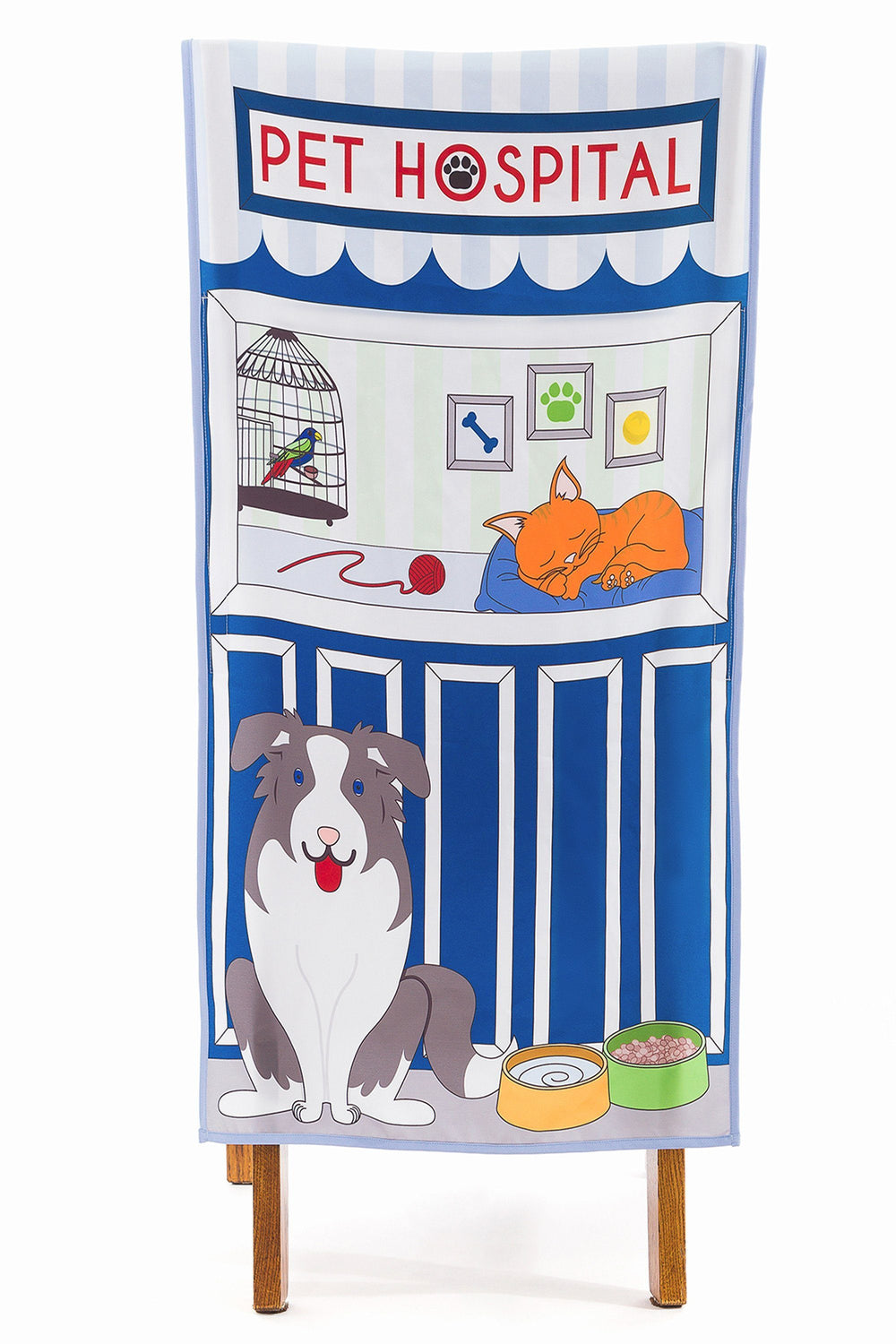 pet hospital pretend play chair cover