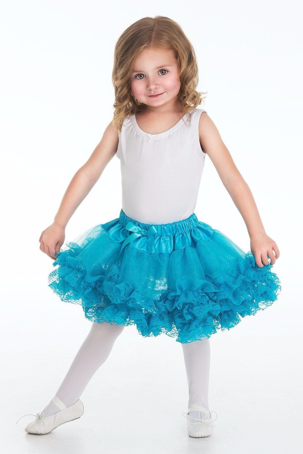 Discontinued - Fluffy Lace Tutu Teal