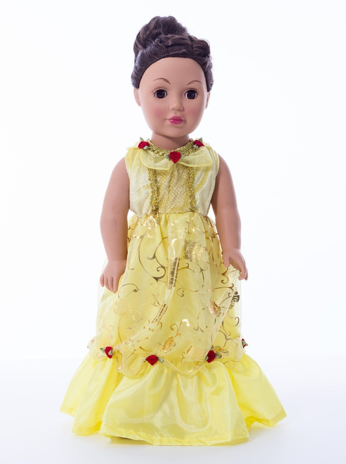 Doll Dresses & Accessories - Doll Dress Yellow Beauty