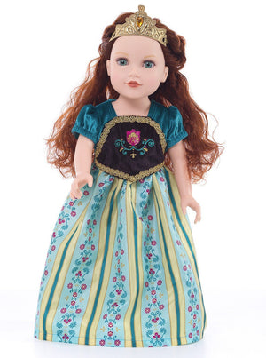 Doll Dresses & Accessories - Doll Shoes And Tiara Gold