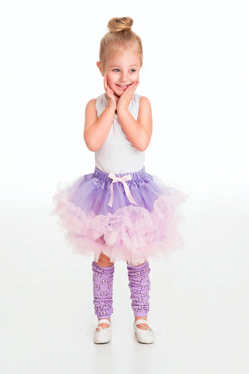Fairies & Dance - Leg Warmers Bow Lilac/Pink