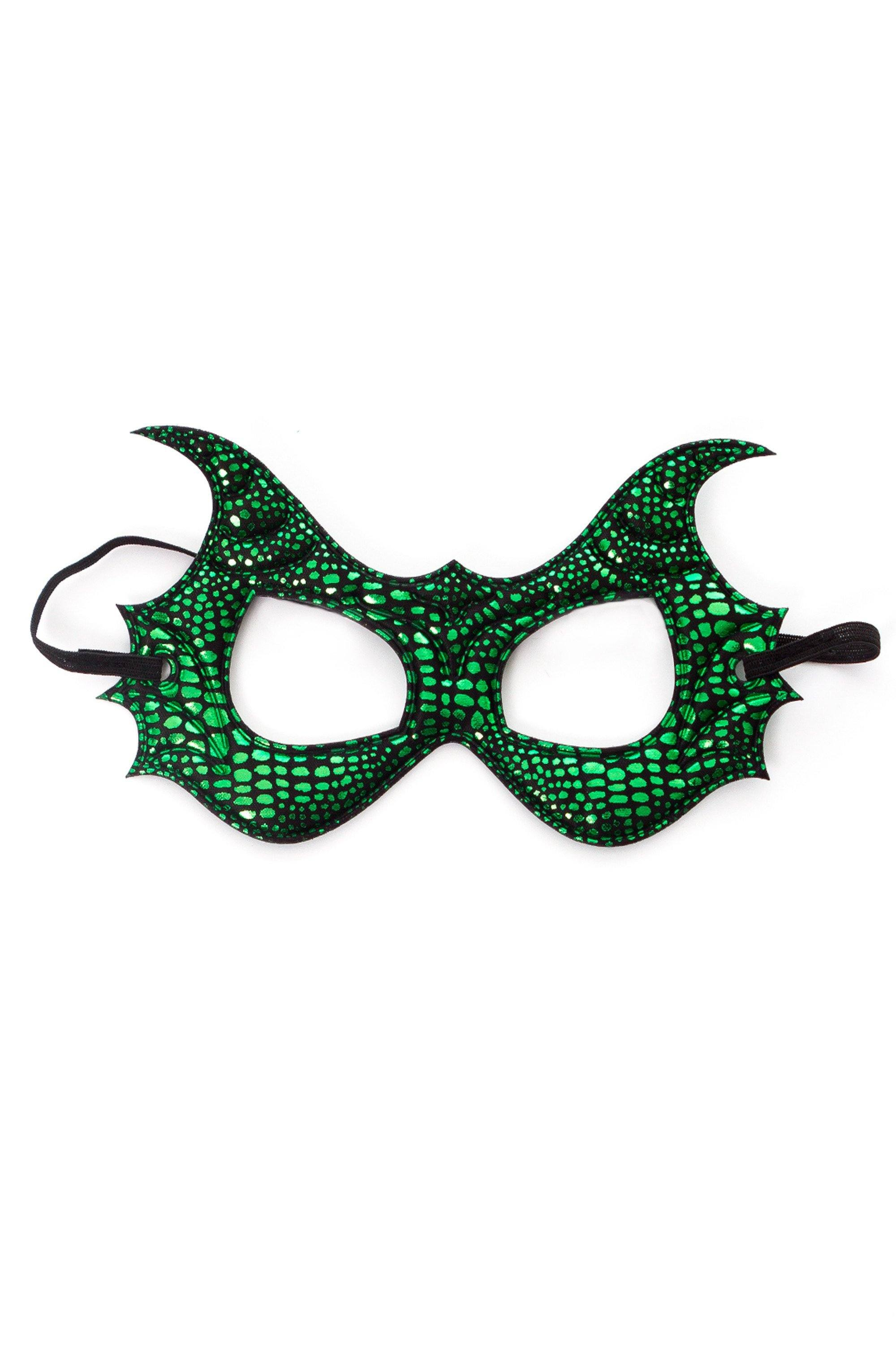 Knight And Adventure Cape Sets - Green Dragon Wing & Mask Set