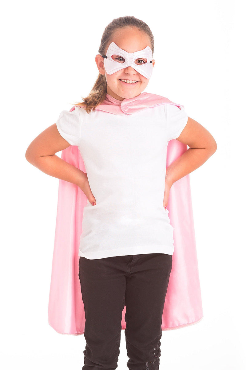 The Cape & Mask Sets - Pink Crown Cape & Mask Set