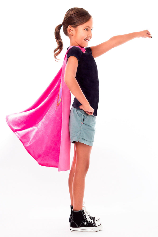 Load image into Gallery viewer, The Cape & Mask Sets - Pink Hero Cape & Mask Set