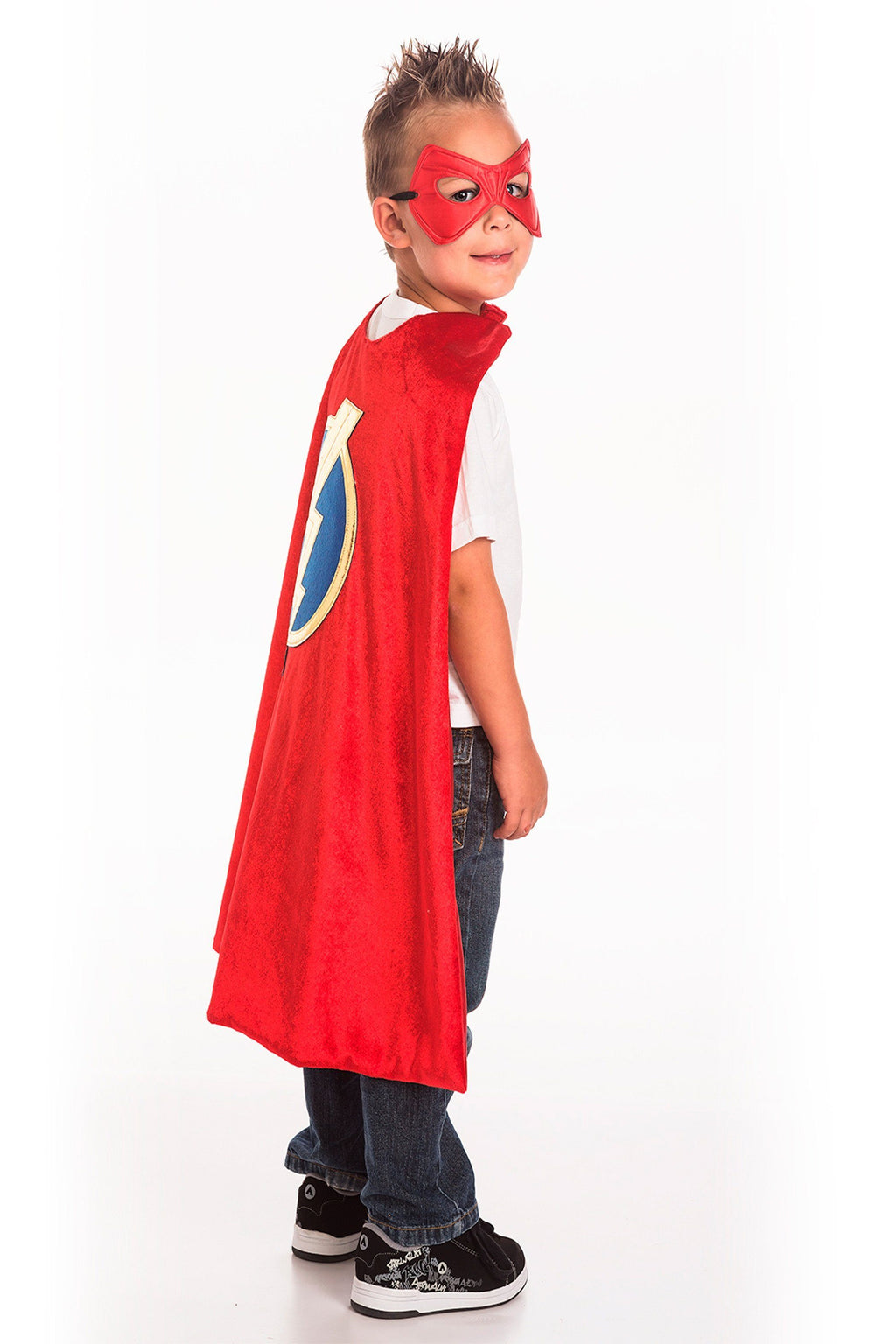 The Cape & Mask Sets - Red Hero Cape & Mask Set