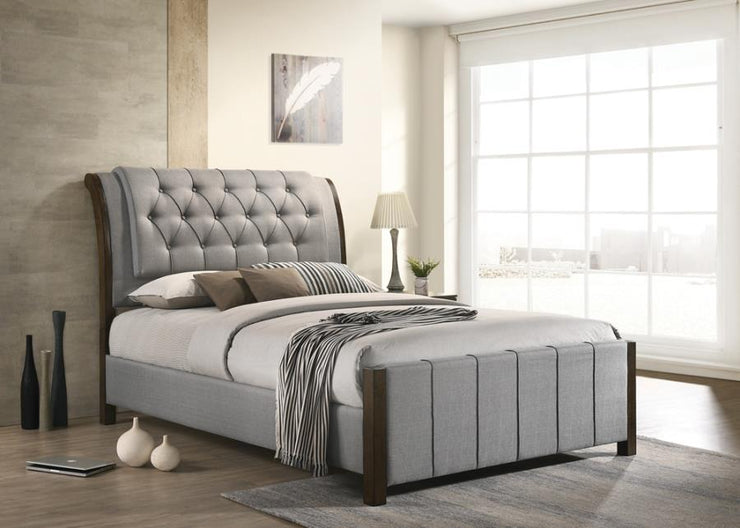 Lohrville Light Grey Bed Frame