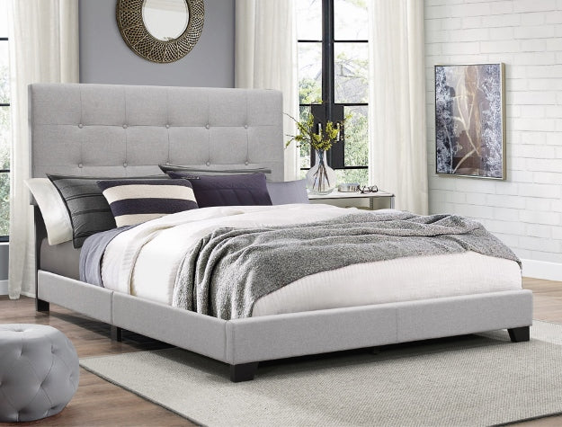 Gray King Milan Bed Frame