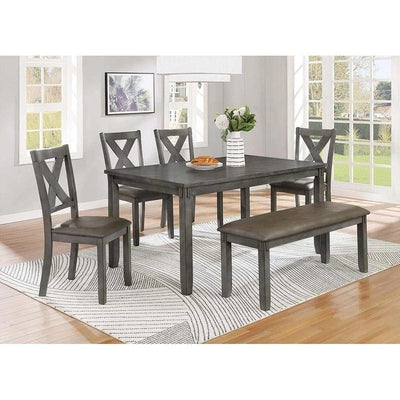 6pc Grey Dining Table
