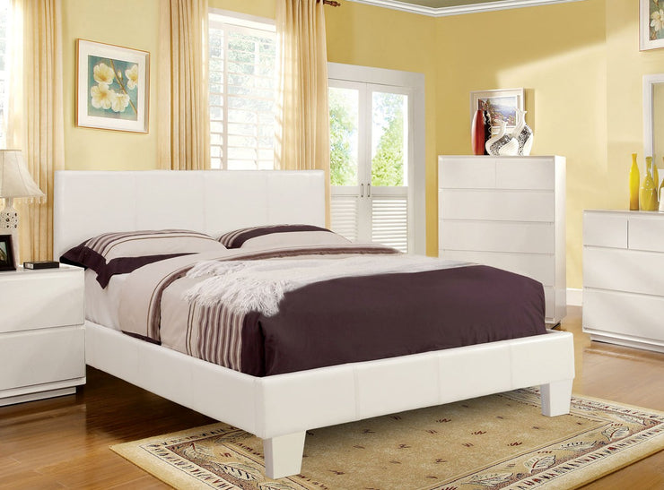 Queen Platform Bed in White