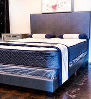 Dark Gray Contemporary Bed Frame