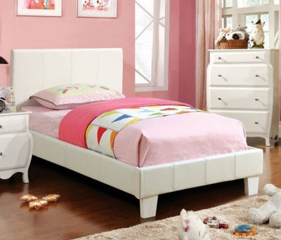 Twin White Platform Bed