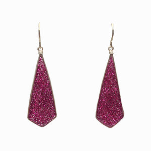 Diamond Drop- Fuschia Glitter