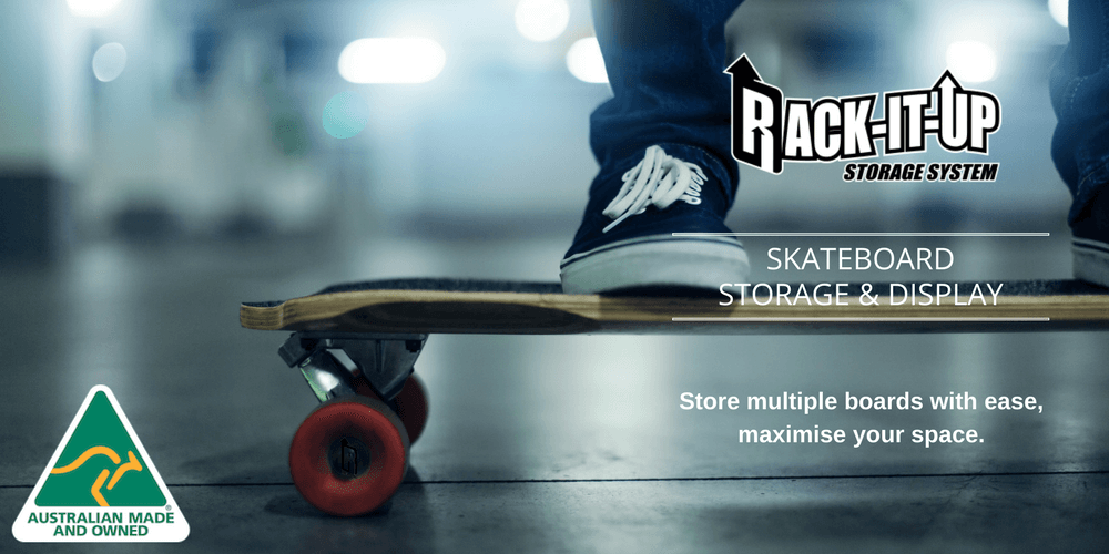 Skateboard Storage & Display  - Rack-It-Up Systems Pty Ltd