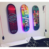 Vertical Skateboard Storage Racks on wall