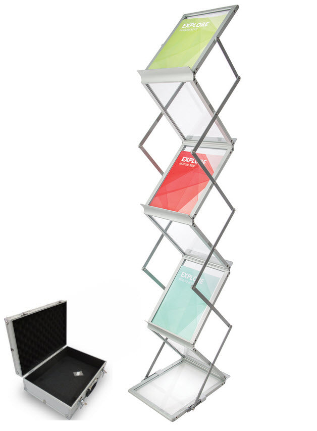 Concertina Double Sided Brochure Stand Shopfittingsrus