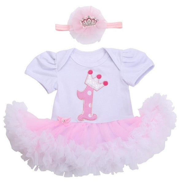 0 3 months first birthday girl tutu set newborn clothing baby girl dress formal infant clothes newborn baby girl clothes - EnsoStore
