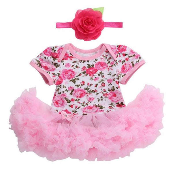 7c9b349b38d6 0 3 months first birthday girl tutu set newborn clothing baby girl ...