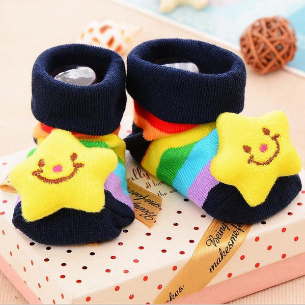 1 Pair cotton Baby socks rubber anti slip floor cartoon kids Toddlers autumn spring Fashion Animal newborn Cute 20 Patterns - EnsoStore
