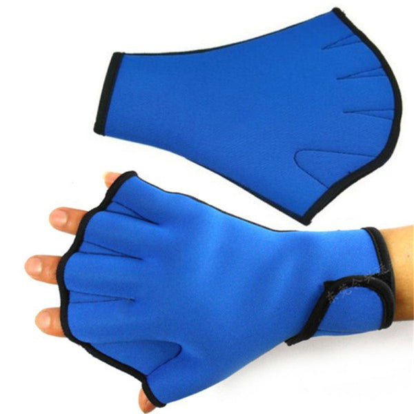 1 Pair Sphere Webbed Swim Gloves Surfing Swimming Sports Paddle Training Fingerless Gloves - EnsoStore