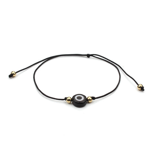 1 PC Top Selling Simple Design Lucky Evil Eye Charms Black Blue Red Rope String Bracelet For Women Men As Gift - EnsoStore